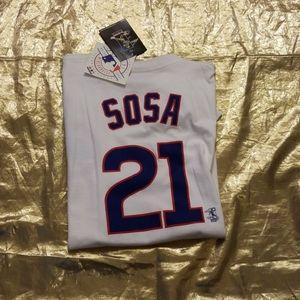 ⭐2/$22 Chicago Cubs Sammy Sosa NWT Tshirt XL